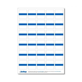Inscription labels Insetbox 30 pcs blue (1 sheet)