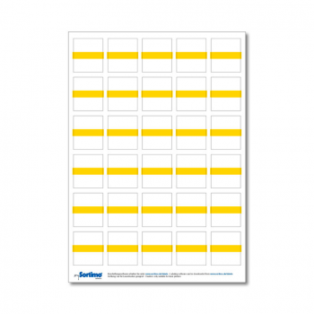 Inscription labels Insetbox 30 pcs yellow (1 sheet)