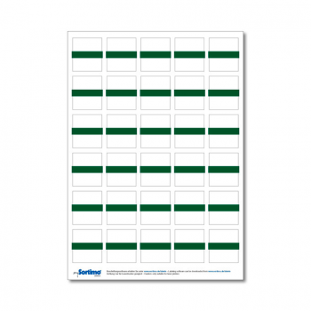 Inscription labels Insetbox 30 pcs green (1 sheet)