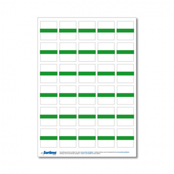Inscription labels Insetbox 30 pcs lime (1 sheet)