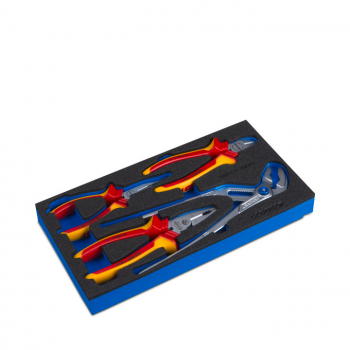 Gedore VDE pliers assortment in tool insert 3x6