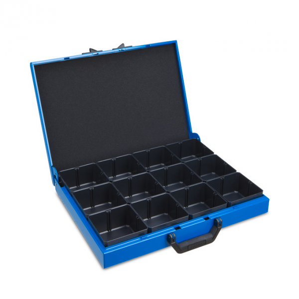 Metal case KM 321 incl. 12 inset boxes H63